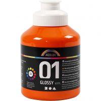 Pintura acrílica A-Color, glossy, naranja, 500 ml/ 1 botella