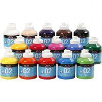 Pintura A-Color Ready Mix Paint, mate, surtido de colores, 15x500 ml/ 1 caja