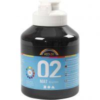 Pintura A-Color Ready Mix Paint, mate, negro, 500 ml/ 1 botella
