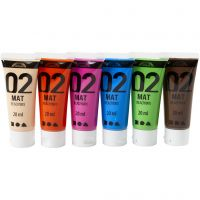 Pintura A-Color Ready Mix Paint, mate, colores adicionales, 6x20 ml/ 1 paquete