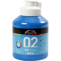 Pintura A-Color Ready Mix Paint, mate, azul primario, 500 ml/ 1 botella