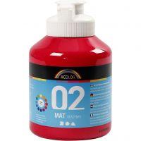 Pintura A-Color Ready Mix Paint, mate, rojo primario, 500 ml/ 1 botella