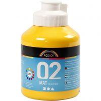 Pintura A-Color Ready Mix Paint, mate, amarillo, 500 ml/ 1 botella