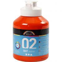 Pintura A-Color Ready Mix Paint, mate, naranja, 500 ml/ 1 botella