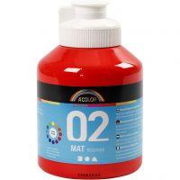 Pintura A-Color Ready Mix Paint, mate, rojo, 500 ml/ 1 botella