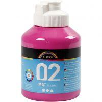 Pintura A-Color Ready Mix Paint, mate, rosa, 500 ml/ 1 botella