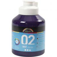 Pintura A-Color Ready Mix Paint, mate, violeta, 500 ml/ 1 botella