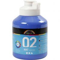 Pintura A-Color Ready Mix Paint, mate, azul, 500 ml/ 1 botella