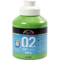 Pintura A-Color Ready Mix Paint, mate, verde claro, 500 ml/ 1 botella