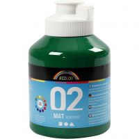 Pintura A-Color Ready Mix Paint, mate, verde oscuro, 500 ml/ 1 botella