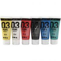 Pintura Acrílica A-Color , Metálica, colores estándar, 6x20 ml/ 1 paquete