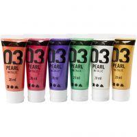 Pintura Acrílica A-Color , Metálica, colores adicionales, 6x20 ml/ 1 paquete