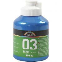 Pintura Acrílica A-Color , Metálica, azul, 500 ml/ 1 botella
