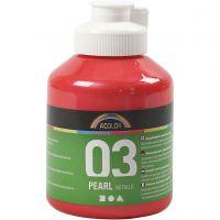 Pintura Acrílica A-Color , Metálica, rojo, 500 ml/ 1 botella