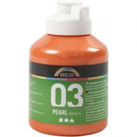 Pintura Acrílica A-Color , Metálica, naranja, 500 ml/ 1 botella