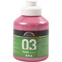 Pintura Acrílica A-Color , Metálica, rojo claro, 500 ml/ 1 botella