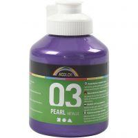 Pintura Acrílica A-Color , Metálica, violeta, 500 ml/ 1 botella