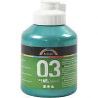 Pintura Acrílica A-Color , Metálica, verde, 500 ml/ 1 botella