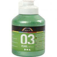 Pintura Acrílica A-Color , Metálica, verde claro, 500 ml/ 1 botella