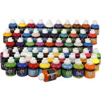 Pintura acrílica A-Color, surtido de colores, 57x500 ml/ 1 paquete