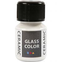 Pintura cristal y cerámica, blanco, 35 ml/ 1 botella