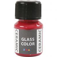 Pintura cristal y cerámica, rojo carmín, 35 ml/ 1 botella
