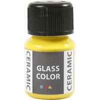 Pintura cristal y cerámica, amarillo limón, 35 ml/ 1 botella