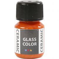 Pintura cristal y cerámica, naranja, 35 ml/ 1 botella