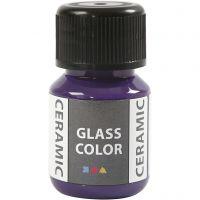 Pintura cristal y cerámica, violeta, 35 ml/ 1 botella