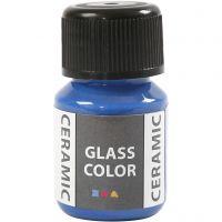 Pintura cristal y cerámica, azul brillante, 35 ml/ 1 botella