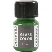Pintura cristal y cerámica, verde brillante, 35 ml/ 1 botella