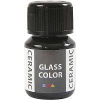 Pintura cristal y cerámica, negro, 35 ml/ 1 botella