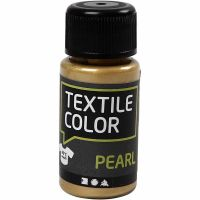 Textile Color, perlado, dorado, 50 ml/ 1 botella