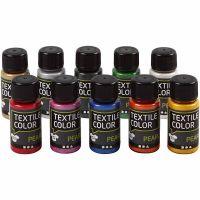 Textile Color, perlado, surtido de colores, 10x50 ml/ 1 paquete