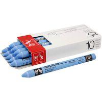 Neocolor I, L. 10 cm, grosor 8 mm, light blue (161), 10 ud/ 1 paquete