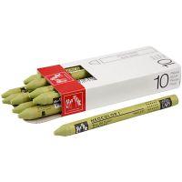 Neocolor I, L. 10 cm, grosor 8 mm, light olive (245), 10 ud/ 1 paquete