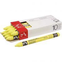 Neocolor I, L. 10 cm, grosor 8 mm, lemon yellow (240), 10 ud/ 1 paquete