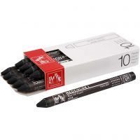 Neocolor I, L. 10 cm, grosor 8 mm, black (009), 10 ud/ 1 paquete