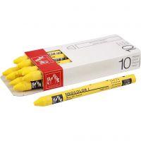 Neocolor I, L. 10 cm, grosor 8 mm, yellow (010), 10 ud/ 1 paquete