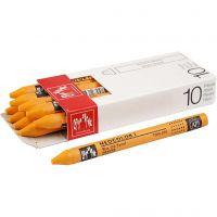 Neocolor I, L. 10 cm, grosor 8 mm, orange (030), 10 ud/ 1 paquete