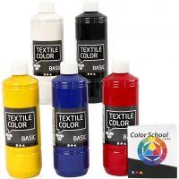 Textile Colour, colores primario, 5x500 ml/ 1 paquete