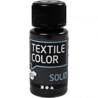 Textile Solid , opaco, negro, 50 ml/ 1 botella