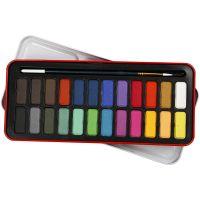 Set de acuarelas, medidas 12x30 mm, surtido de colores, 24 color/ 1 paquete