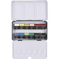Pinturas acuarelables Art Aqua, ½-pan, medidas 10x20 mm, surtido de colores, 12 color/ 1 paquete