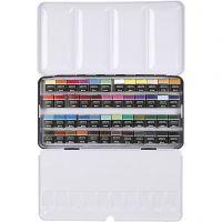 Pinturas acuarelables Art Aqua, ½-pan, medidas 10x20 mm, surtido de colores, 48 color/ 1 paquete