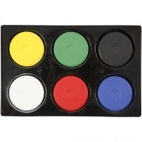 Acuarelas, A: 16 mm, dia: 44 mm, colores primario, 1 set