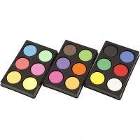 Acuarelas, A: 16 mm, dia: 44 mm, colores neón, colores adicionales, 1 set