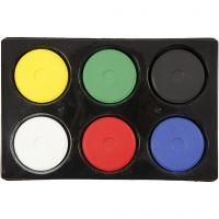 Acuarelas, A: 19 mm, dia: 57 mm, colores primario, 1 set