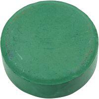 Acuarelas, A: 19 mm, dia: 57 mm, verde oscuro, 6 ud/ 1 paquete