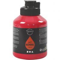 Pintura Pigment Art School, semi transparente, rojo primario, 500 ml/ 1 botella